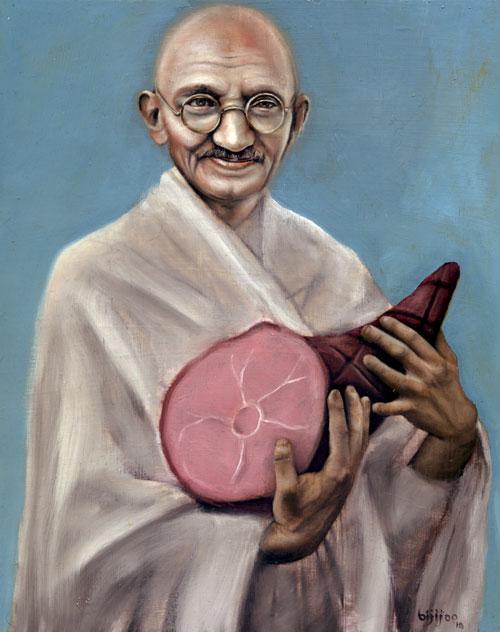 Gandhi with Ham