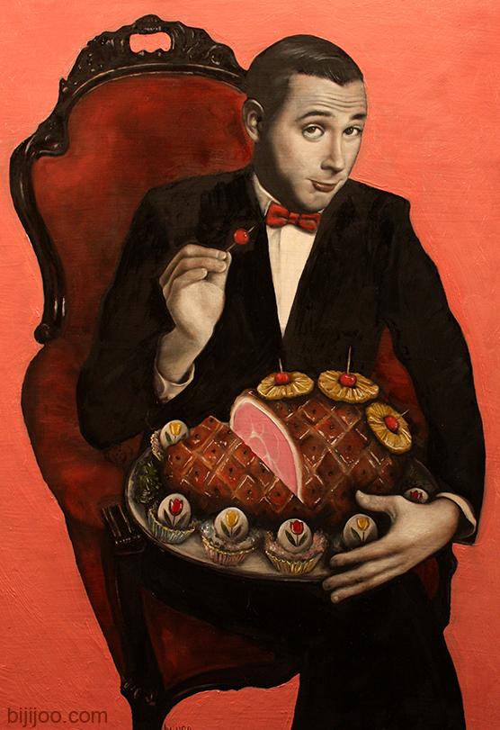 Pee Wee Herman with Pineapple-glazed Ham