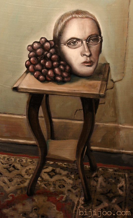 Still Life with Eminem and Grapes