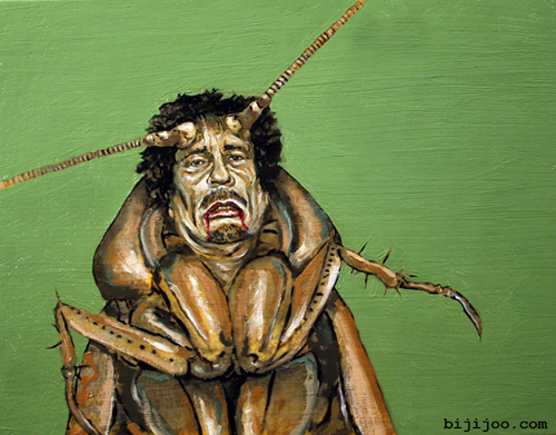 Muammar al-Gaddafi, Cockroach