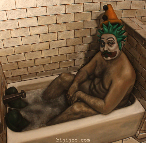 The Bathing Clown (Pickles the Clown in a Bathtub)