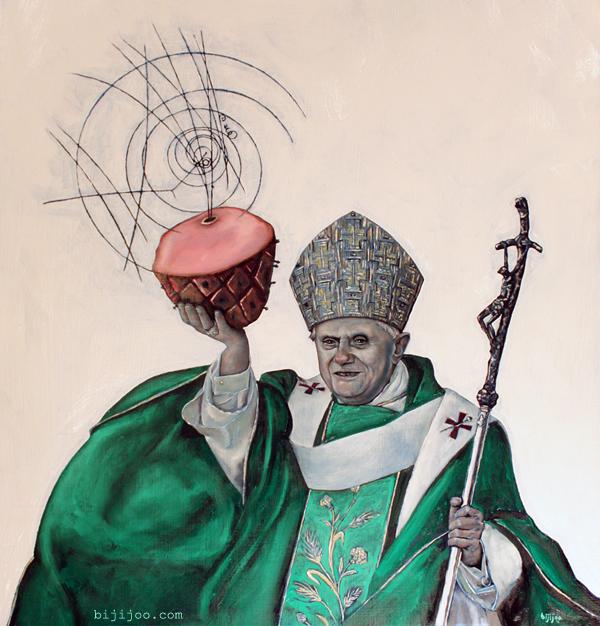Pope Benedict XVI with Ham