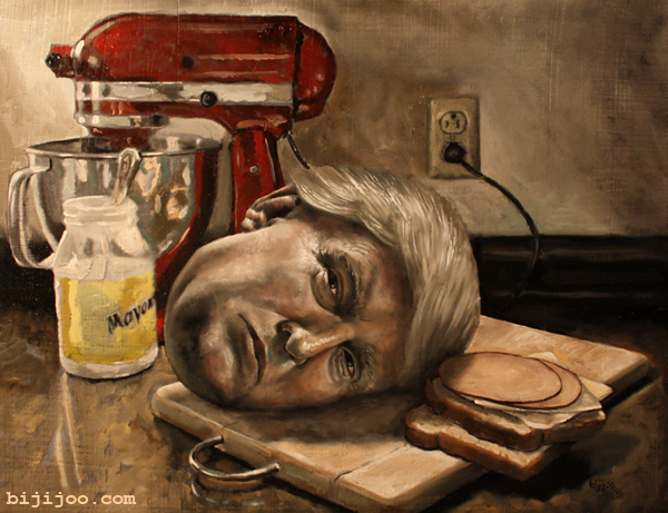 Still Life with Donald Trump and Sandwich Fixings