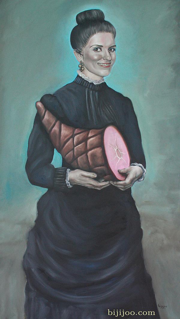 Tina Fey with Ham