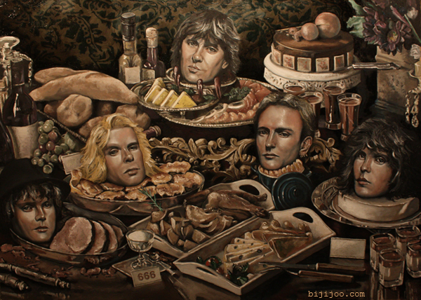 Still Life with Def Leppard in a Buffet