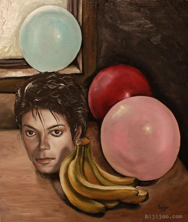 Still Life with Michael Jackson, Balloons, and Bananas