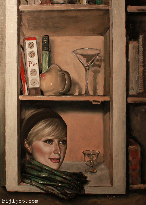 Still Life with Paris Hilton, Asparagus, and a Boob Cup
