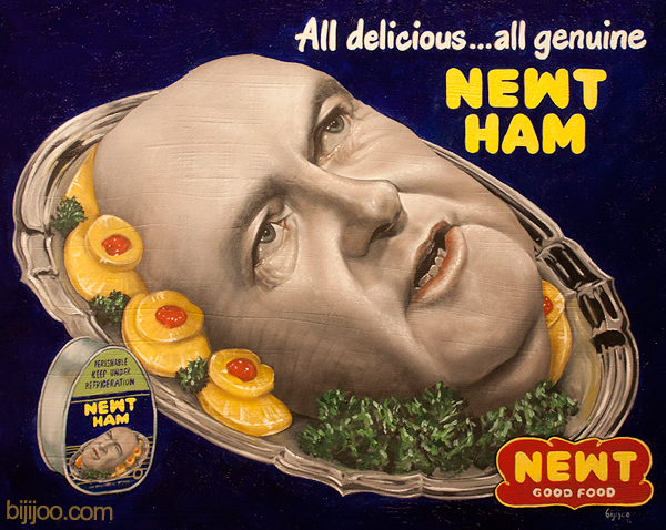 Newt Gingrich as a Ham